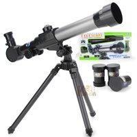 brinquedos de descoberta venda por atacado-20X ~ 40X telescópio astronômico HD Compass Pesquisa crianças Experiment Estudantes Educacional Instrumento Escola Científico Descoberta Toy LA257