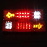 ingrosso stop atv led-2Pcs 19 LED Stop Rear Rear Brake Luce di retromarcia Indicatore di direzione 12V ATV Truck Car Trailer Lamp Rimorchio Segnale Luce posteriore
