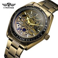 relógio de luxo vencedor venda por atacado-Novo Vencedor de Luxo Relógio Do Esporte Dos Homens Relógio Automático Relógio Mecânico Esqueleto Relogio Steampunk Marca Mens relógio de Pulso