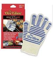 hot surface gloves 도매-비켜 장갑 마이크로 웨이브 오븐 (540) F 내열 방지 요리 내열 오븐 장갑 장갑 뜨거운 표면 처리기 ZZA1417-3 100PCS 장갑