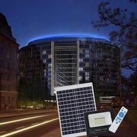 proyectores de alta potencia al por mayor-El panel accionado solar de la alta calidad 120W llevó la lámpara de pared al aire libre de la luz de calle de la luz de calle del control de las luces de inundación del control de la luz