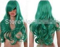 ingrosso parrucca verde profonda-FREE SHIPPIN + + + BLEACH Neliel Long Cosplay Wig Deep Green Curls