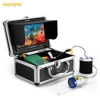 Wholesale waterproof fishing camera resale online - NACATIN LEDs Fish Finder Camera Kit IR M Underwater TVL inch LCD Monitor IP68 Waterproof Fish shaped Camera