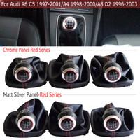 красные матовые автомобили оптовых-Красная / Черная ручка переключения передач Кожаный чехол для багажника Для A6 C5 (1997-2001) / A4 (1998-2000) / A8 D2 (1996-03) Стайлинг для автомобилей Matte / Chrome