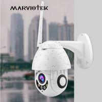 video gözetleme kubbesi toptan satış-IP Kamera WiFi 1080 P Kablosuz PTZ Speed Dome CCTV Kamera Açık Ev Güvenlik Video Gözetim ipCam Camara dış IR Onvif