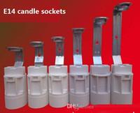 iluminação parafuso velas venda por atacado-E14 Parafuso Pequenas Velas de Suspensão / Base de Cristal Pingente Lâmpadas Tomadas com Fios de Iluminação Acessórios de Peças de Reposição