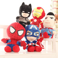 Wholesale avengers movie stuffed resale online - The Avengers Plush Toys cartoon Super hero Iron Man Captain America Stuffed Animals For Kids Holiday Birthday Gifts cm inches EMS C6501
