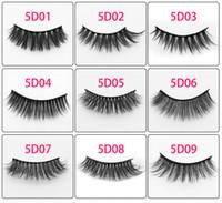 Wholesale hair volume set for sale - Group buy 5D Mink Lashes Handmade Mink Eyelashes Soft Volume Cruelty Free Mink False Eyelashes Fluffy Full Strip Lashes pairs set
