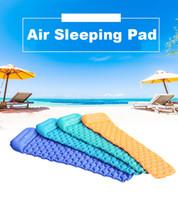 randonnée tapis de couchage achat en gros de-Tapis de camping gonflable avec matelas de pique-nique de tapis de plage d'oreiller d'air ultra-léger de lit pour la randonnée extérieure Backpacking Travel VT0166
