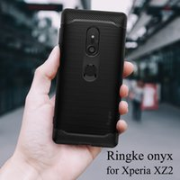 estuche negro xperia al por mayor-Ringke Onyx para Sony Xperia Xz2 Funda Flexible Tpu Funda de grado militar Protetion Negro Funda para Xperia Xz2 Compacto J190702