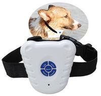 Wholesale dog collars training anti barking resale online - Ultrasonic Pet Dog Collars Anti Bark Stop Training Collars Bark contral dog collar dog training machine for dogs FFA2689