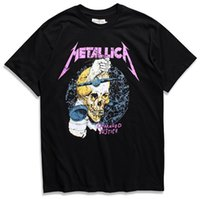 t-shirt drucke großhandel-Metallica Harvester Of Sorrow T-Shirt Schwarzes Poster in allen Größen M-3XL Männer Hohe Qualität Custom Printed Tops Hipster Tees