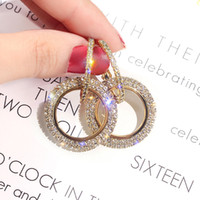 Wholesale New design creative jewelry high grade elegant crystal earrings round Gold and silver earrings wedding party earrings for woman