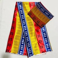 Wholesale african print fabric dresses for sale - Group buy 4Y Yards Most popular printed pattern korea chiffon silk lace fabric smooth african satin material for dress LS2