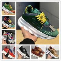 cadenas de zapatos para hombre al por mayor-Zapatillas de deporte de reacción en cadena Hombres Hombres Zapatos de diseñador de lujo Mujeres Mujeres Zapatillas de deporte deportivas Zapatos de moda casual Zapatillas con polvo