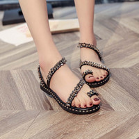c306de966 2019 New Arrival Women Shoes Ladies Fashion Crystal Bling Round Toe Flat  Casual Loafers Sandals Shoes chaussure femme ete  VB30