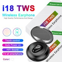 Wholesale fast touch for sale - Group buy i18 tws Touch wireless Bluetooth Headphones Stereo Earphones Auto Power ON Auto paring fast delivery