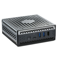Wholesale fanless pcs resale online - Newest AC1 Z Fanless mini pc Intel celeron j3455 j4105 quad core dual display HDMI windows linux HTPC computer DHL