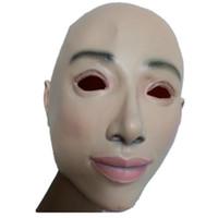 máscara de silicona de baile al por mayor-Máscara femenina de látex de silicona Machina máscaras de piel humana realista Mascarada de danza de Halloween Hermosa Pary género revela mujeres