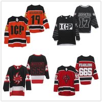 Wholesale Custom Insane Clown Posse Hallowicked Orange Black White Hockey Jerseys ICP Jalo Black White Hockey Stitched Logos Customized