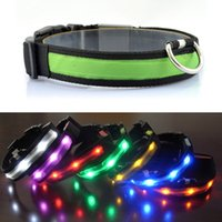Wholesale light up dog collars leashes for sale - Group buy LED Dog Cat Collar Nylon Night Safety Glow Flashing Light Up Dogs Leash Luminous Puppy Necklace Pet Supplies LC
