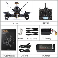Wholesale walkera transmitters resale online - Walkera F210 RC Racing Drone Quadcopter UAV with TVL Wide Angle Adjustable Camera Receiver Devo Transmitter OSD RTF