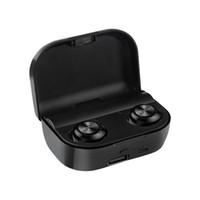 ingrosso iphone più banca di potere-A6 Plus tws Auricolari Bluetooth Wireless 5.0 con auricolari TWS con cassa di ricarica Stereo True Wireless Headphone + Caricatore USB Power Bank