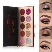Wholesale eye shadow palettes colours resale online - 10 Colours Shimmer MaEyeshadow Cosmetic Makeup Eye Shadow Eye Shadow Profession Kit Eyeshadow Palette Matte Cosmetics TSLM2