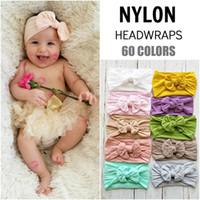 bebekler tüy baş bantları toptan satış-Sevimli Bebek kız Yürüyor bebek Ilmek Kafa Hairband Şapkalar 18 renkler Yeni Varış