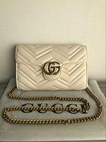 sütyen zincirleri toptan satış-AAA2018 klasik sıcak tasarımcı çanta yüksek kalite lüks çanta marka PU deri zincir omuz çantası