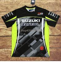 motocross roupa venda por atacado-2019 new suzuki motociclismo moto motocross camiseta equitação homens dirigindo camiseta manga curta respirável quick dry clothing