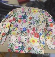 sudaderas florales al por mayor-Sudaderas con capucha del diseñador para Hombres Mujeres Sudaderas con capucha 2019 Autnmn Marca con flores City nombres largos de la manga del suéter para hombre Top M-2XL