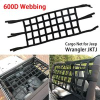 Wholesale beds netting resale online - 126 cm Car Roof Net Hammock Car Bed Rest Top Cover Back Window Extra Storage Roof Net For Jeep Wrangler TJ JK