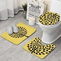 ingrosso paesaggistica contemporanea-Modern Landscape Contemporary nero set 3 pezzi da bagno, tappetino antiscivolo set tappetino da bagno di lusso profilo tappetino