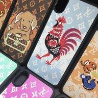 capa do zodíaco venda por atacado-Design da marca 12 zodíaco animal phone case capa para iphone xs max 7 7 mais 8 8 plus 6 6lus xr tpu + pc