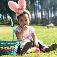 bebek keman baş bandı vintage toptan satış-Çocuklar Tavşan Kulakları Kafa Bandı Bebek Kız Bantlar Çiçek Hoop Bebek Kız Festivali Headdress Vintage Düşük Aksesuarlar 19
