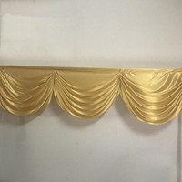 2M 3 curtain swags gold wedding backdop curtain swag drapery swags small table skirt swag for event party decoration