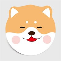 dessins animés husky achat en gros de-Roundstyle chambre animaux européenne Cartoon 3D Husky Chihuahua salon en forme de tapis suspendus tapis pour animaux de compagnie panier