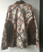 ropa de camuflaje marrón al por mayor-2019 capa de los hombres de camuflaje caza chaquetas para hombre del deporte al aire libre Fleece Jacket Hombres Caza Ropa térmica secado rápido más el tamaño L-4XL