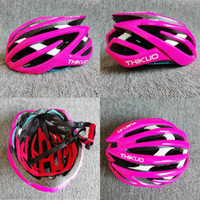 Wholesale cool bike for sale resale online - ThiKuo cool bicycle helmets man and womens bike helmets pink yellow road bike and mountain for sale