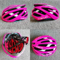 ingrosso casco di montagna giallo-ThiKuo fresco caschi da bicicletta uomo e donne in bicicletta caschi rosa / giallo bici da strada e mountain in vendita
