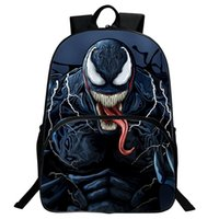 mochilas de maravilla al por mayor-Marvel Venom Mochila Student Bag Hero Mochila para niños Vengadores Bolso de hombre J190627