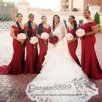 Wholesale corset bridesmaid dresses pink resale online - Elegant Long Formal Dresses for Women Off Shoulder Mermaid Sweep Train Corset Bridesmaid Dresses with zipper Back Maid of Honor Gowns