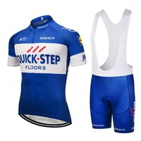 Wholesale cycling jersey set quick step resale online - 2020 Diegonovo Quick Step Cycling Jersey Gel Bike Shorts Set Sobycle Ropa Ciclismo Mens Summer Teampro Bicycling Wear Maillot Culotte