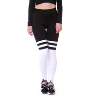 Wholesale white stitched leggings for sale - Group buy 2018 New Women Leggings Yoga Pants Push Up Pants Sexy Thighs Fitness Letters Stitching Running Leggings Quick Dry Stretch