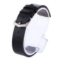 echtlederhaut großhandel-Wachsölhaut Uhrenarmbänder Vintage Echtleder Armband Kalbsleder Uhrenarmbänder 18mm 20mm 22mm Schwarz Braun Edelstahl Armband