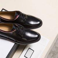 vestidos de escritório no reino unido venda por atacado-Mais recente do Reino Unido de luxo vestido sapatos de couro liso dos homens da marca de negócios sapatos casuais tamanho: 38-45