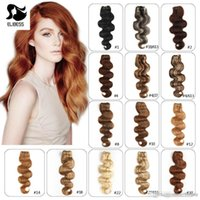 Wholesale free set hair extensions for sale - Group buy Super Quality Clip In Human Hair Extensions Indain Virgin Hair set g Body wave blonde Brown Black hair clips free DHL