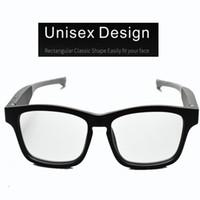 Wholesale sunglasses audio resale online - Smart Eye Wear Glasses Wireless Bluetooth Hands Free Calling Music Audio Open Ear Anti blue Light Lenses Intelligent Sunglasses