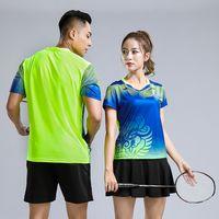ingrosso usura sportiva da tennis-Stampa gratuita Qucik dry New Badminton abbigliamento sportivo Donna / Uomo, Sport Tuta da tennis, abbigliamento da badminton, abbigliamento da ping pong 231AB